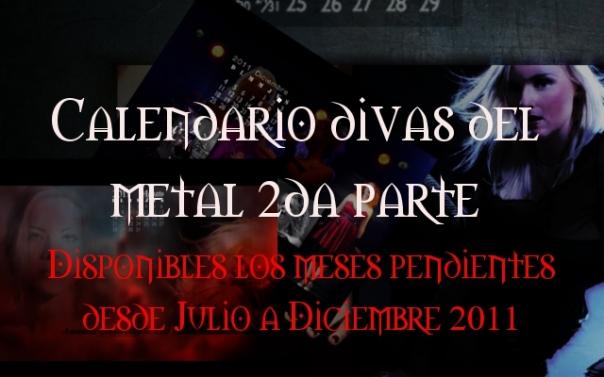 """Descarga el 2do pack de wallpapers-calendarios """"Divas del metal 2011"""