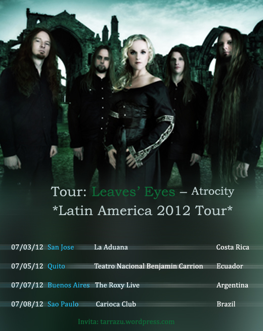 Tour: Leaves' Eyes – Atrocity Latin America 2012 Tour