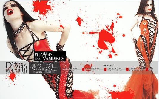 sonya scarlet calendar april 2013