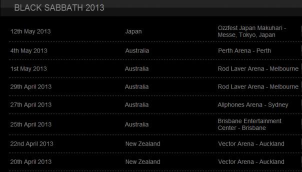 confirmados hasta el momento para 2013 black sabbtah