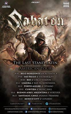 sabaton tour america 2016